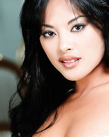 Wonderful asian lady Kaylani Lei lays off her underwear and opens her pussy