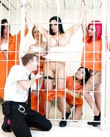 Busty Euro pornstar Aletta Ocean taking anal sex in prison from big cock