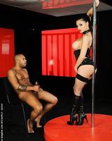 Interracial sex after striptease from sweet pornstar Aletta Ocean
