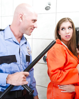 Prisoners Alex Chance and Cali Carter fucked by handsome jailer Johnny Sins