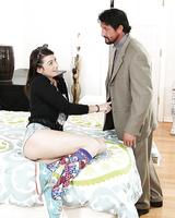 Kinky girl Aspen Ora enjoys a quick clothed sex and gives a deep blowjob