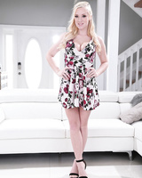 Wonderful Bailey Brooke strips off her summer dress and touches her goodies