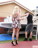 Attractive Bailey Brooke would do anything to get on a handsome guy's boat