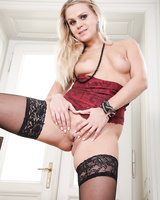 Tall Czech MILF in stockings Bara Brass gives her younger lover an amazing BJ