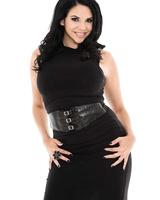 MILF Latina Missy Martinez looks stunishing in her stocking and high heels
