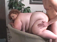 Wild doggy with huge BBW