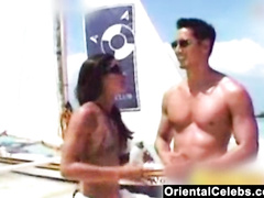 Thai hottie Paula Taylor shows off her curvy body