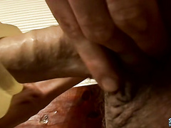 Hot boy Shank tries out his big cock in fleshlight
