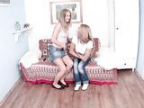 Sensual addicts Malia and Mariah tease wet pussies