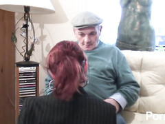 Hot pappy hard fucks a young amateur redhead hottie