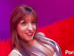 Spanish redhead hottie takes big cock in all holes