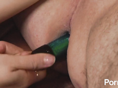 Hot domina whore anal fucking her submissive slave