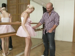 Naughty ballerina gets a big dick work out and cums