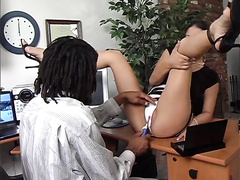 Dirty office whore Leah Lexington hardcore fucked