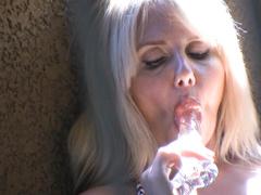 Horny bitch Karen Fisher spied in hot masturbation