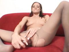Lovely babe Addison Rose toys her yummy wet pussy