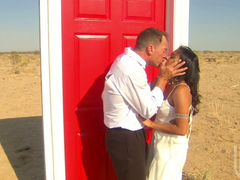Superb Kaylani Lei gets fucked from behind in a desert