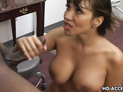 Ava Devine XXX anal sex - Big tits Asian enjoying some interracial action