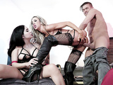 Courtney Taylor, and Xander in threesome action