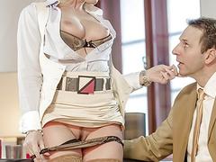 Naughty secretary Kathia Nobili gets her asshole plowed by her boss