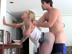 Camera isn't obstacle for director to drill hot blonde Ryan Conner
