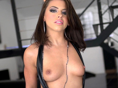Adriana Chechik takes underwear down opening up the beauty of thin body