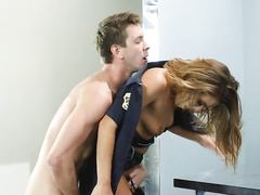 Security mom Adriana Chechik wants blowjob and real assfucking