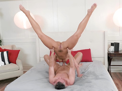 Awesome mom Adriana Chechik can give upside down blowjob to real fucker