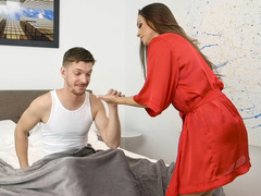 Lovelace undressed stepmom Abigail Mac and tenderly shoved cock in her mouth