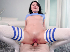 Anal cock riding is a thing that takes daughter Adria Rae to heaven