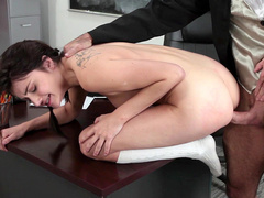 Principal's daughter Adria Rae is fucked from behind by teacher
