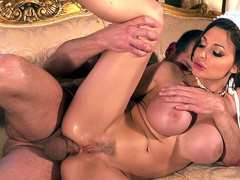 Full-bosomed maid Aletta Ocean likes to take XXX tools in the anus