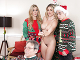 Keep The Xmas Lights Tied On - Mom Cory Chase In the porn scene