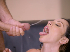 Stepmom Ariella Ferrera meets stepson in a hotel room for banging