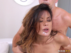 Hot Asian Chick Gets Hairless Snatch And Anal invasion Crevice A Hard-core Pounding