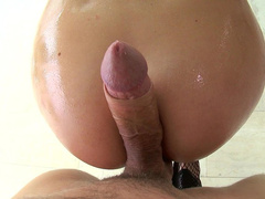 Man teases cougar Chanel Preston by sliding prick between her buttocks