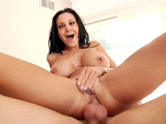 It's genuine pleasure for hot mom Ava Addams with big tits to ride cock