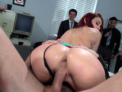 Mom Monique Alexander penetrated in front of colleagues in office