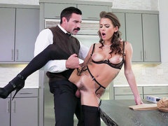 Handsome stranger impales cheating wife Keisha Grey in awesome poses