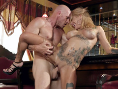 Working is for husband but inked wife Bonnie Rotten is cheating on him