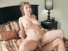 Gardener satisfies ravishing mom Lena Paul giving her a cock ride