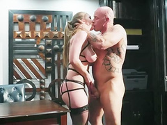 Lena Paul is a submissive mom and husband can fuck her the way he wants