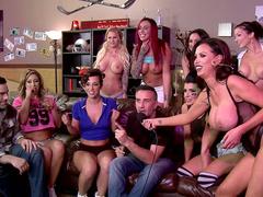 Porn corporate event with stepmoms Eva, Jada, Nikki, Romi and Austin