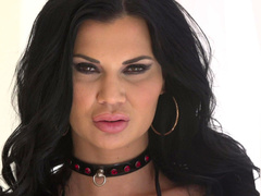 Model Jasmine Jae seductively demonstrates her big tits and sweet cunny