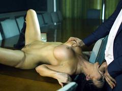 Businessman lets mistress with big tits Jasmine Jae give him hot BJ