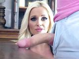 Future blonde stepmom Alena Croft wins over stepson with blwojob