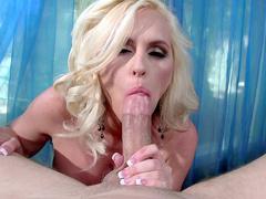 Big busty mom Alena Croft shows off her deepthroat skills