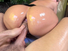 Sexy and busty pornstar Alena Croft in her first anal scene ever