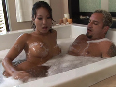 Asa Akira nude Treating two at the same time