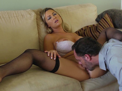 Abbey Brooks nude - Accepting his tongue activities on her pussy